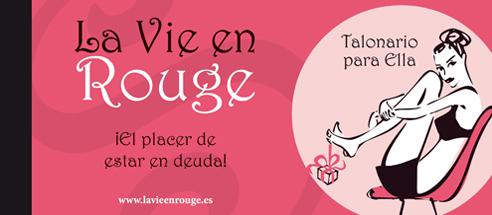 El talonario para ella de La Vie en Rouge